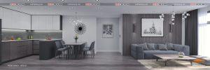 1 thiết kế nội thất chung cư hiện đại PHÒNG KHÁCH - HPC Landmark căn B - Nội thất sang (2)