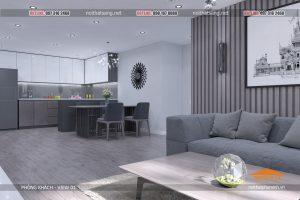 1 thiết kế nội thất chung cư hiện đại PHÒNG KHÁCH - HPC Landmark căn B - Nội thất sang (3)