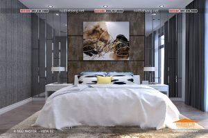 2 thiết kế nội thất chung cư hiện đại phòng Master - HPC Land Mark - noithatsang(2)