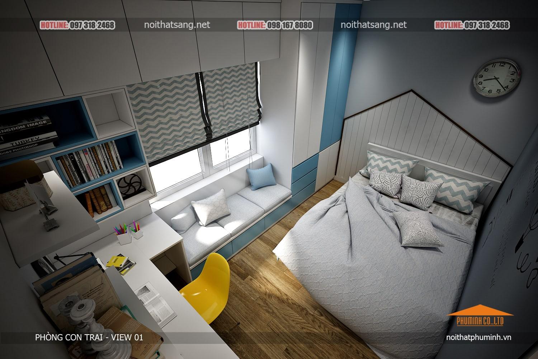 Không gian phòng ngủ của con trai