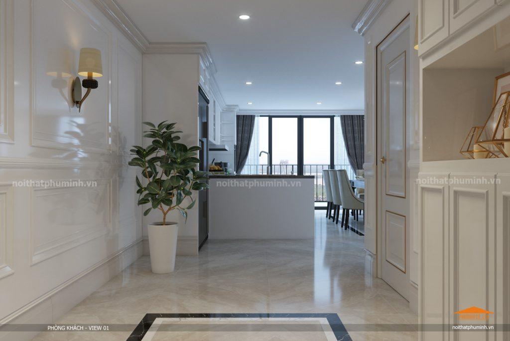 Thiết kế nội thất căn hộ Duplex Pentstudio Tây Hồ